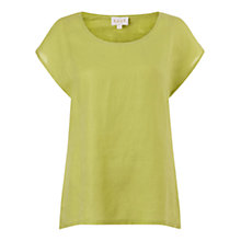 Buy East Combination Linen Top Online at johnlewis.com