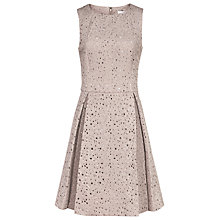 Buy Reiss Juniper Laser Cut Dress, Ice Rose Online at johnlewis.com