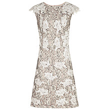 Buy Reiss Tamzin Lace Dress, Natural Online at johnlewis.com