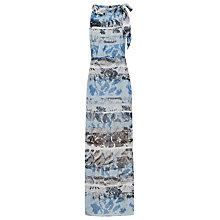 Buy Reiss Ezra Printed Maxi Dress, Multi Blue Online at johnlewis.com
