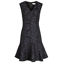 Buy Reiss Saffy Jacquard Dress, Night Navy Online at johnlewis.com