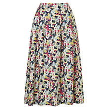 Buy East Linen Penny Print Skirt, Peony Online at johnlewis.com