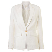 Buy East Tailored Linen Jacket, Pearl Online at johnlewis.com