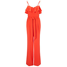 Buy Miss Selfridge Ruffle Detail Jumpsuit, Red Online at johnlewis.com