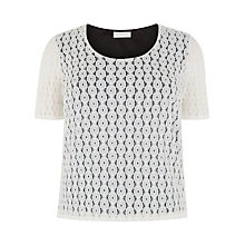 Buy Windsmoor Lace Keyhole Detail Top, Neutral Online at johnlewis.com