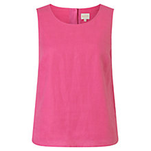 Buy East Linen Shell Top, Peony Online at johnlewis.com