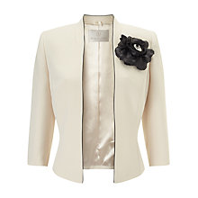 Buy Jacques Vert Angle Front Corsage Jacket, Light Neutral Online at johnlewis.com