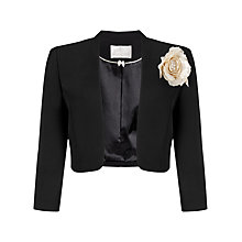 Buy Jacques Vert Stand Collar Bolero, Black Online at johnlewis.com