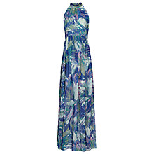 Buy Reiss Anise Printed Maxi Dress, Multi Blue Online at johnlewis.com