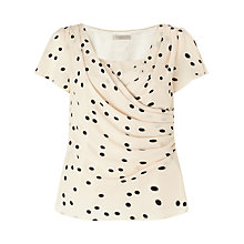 Buy Jacques Vert Petite Wrap Front Blouse, Neutral Online at johnlewis.com