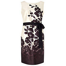 Buy Jacques Vert Ombre Fleur Print Dress, Cream/Multi Online at johnlewis.com