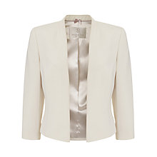 Buy Jacques Vert Petite Edge To Edge Jacket, Light Neutral Online at johnlewis.com