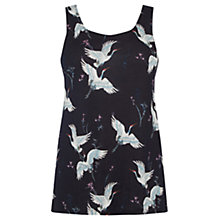 Buy Warehouse Bird Print Vest, Multi Online at johnlewis.com