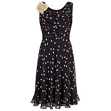 Buy Jacques Vert Petite Spot Print Dress, Black Online at johnlewis.com