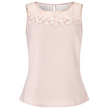 Buy Jacques Vert Lace Petal Blouse, Blossom Pink Online at johnlewis.com