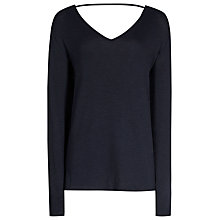 Buy Reiss Laverne V-Back Jumper, Night Navy Online at johnlewis.com