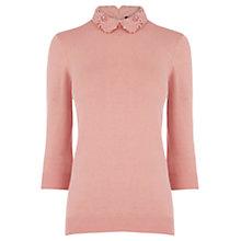 Buy Warehouse Lace Collar Jumper Online at johnlewis.com