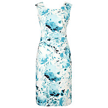 Buy Jacques Vert Contemporary Print Shift Dress, Blue/Multi Online at johnlewis.com