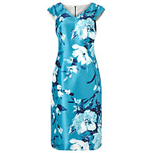 Buy Jacques Vert Flower Print Shift Dress, Blue Online at johnlewis.com