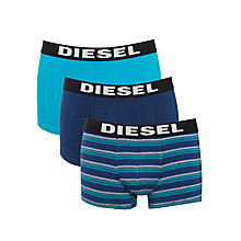 Buy Diesel Shawn Stripe Trunks, Pack of 3, Blue Online at johnlewis.com