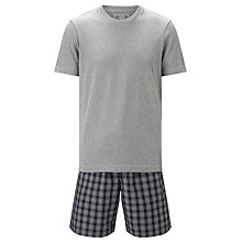 Buy John Lewis Rhinefeld T-Shirt and Check Shorts Lounge Set Online at johnlewis.com