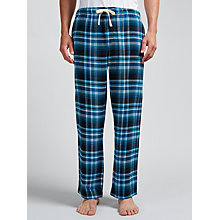 Buy John Lewis Hiltingbury Check Brushed Cotton Lounge Pants, Blue Online at johnlewis.com