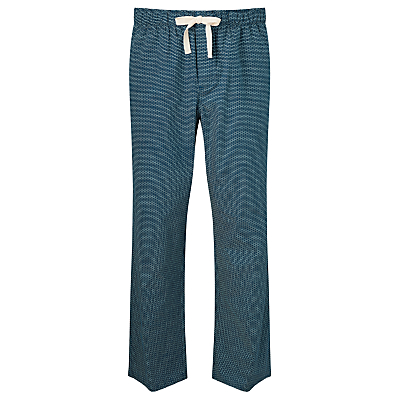 John Lewis Brick Print Lounge Pants, Blue