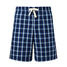 Buy John Lewis York Check Lounge Shorts, Blue Online at johnlewis.com