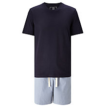 Buy John Lewis Stripe Shorts and T-Shirt Pyjama Set, Blue Online at johnlewis.com