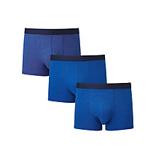 Buy John Lewis Brick/Plain/Dot Trunks, Pack of 3, Blue Online at johnlewis.com