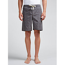 Buy John Lewis Petersfield Check Lounge Shorts, Grey Online at johnlewis.com