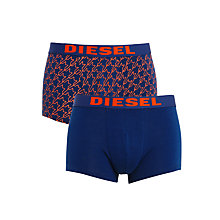 Buy Diesel Shawn Star Print Plain Trunks, Pack of 2, Blue Online at johnlewis.com