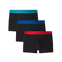 Buy John Lewis Colour Waistband Trunks, Pack of 3, Turquoise/Blue/Red Online at johnlewis.com