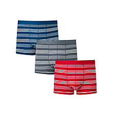 Buy John Lewis Breton Stripe Trunks, Pack of 3, Blue/Red/Grey Online at johnlewis.com
