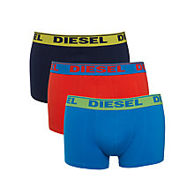 Buy Diesel Shawn Two Colour Boxer Trunks, Pack of 3 Online at johnlewis.com