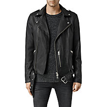 Buy AllSaints Kahawa Leather Biker Jacket Online at johnlewis.com