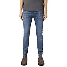 Buy AllSaints Adkins Slim Fit Cigarette Jeans, Mid-Indigo Blue Online at johnlewis.com