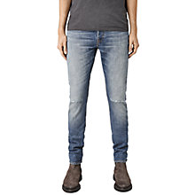 Buy AllSaints Jaypee Slim Fit Pistol Jeans, Mid Indigo Blue Online at johnlewis.com