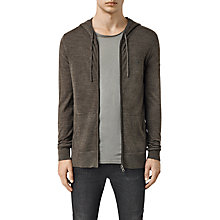 Buy AllSaints Mode Merino Zip Hoody, Olive Green Marl Online at johnlewis.com
