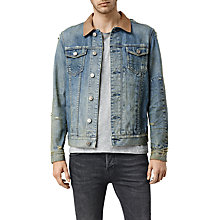 Buy AllSaints Packered Denim Jacket, Light Indigo Blue Online at johnlewis.com