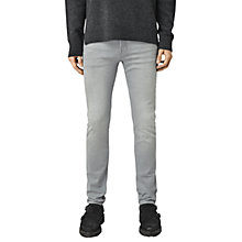 Buy AllSaints Carini Cigarette Slim Jeans, Grey Online at johnlewis.com