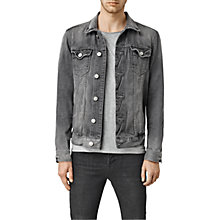 Buy AllSaints Garford Denim Jacket, Grey Online at johnlewis.com