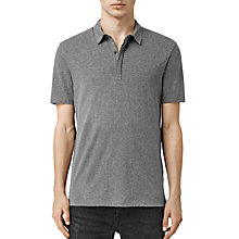 Buy AllSaints Tonic Panel Polo Shirt, Charcoal Marl Online at johnlewis.com