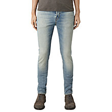 Buy AllSaints Elswith Slim Fit Cigarette Jeans, Light Indigo Blue Online at johnlewis.com