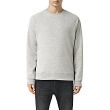 Buy AllSaints Semir Crew Neck Sweatshirt, Grey Marl Online at johnlewis.com