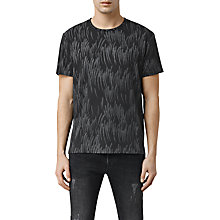 Buy AllSaints Cyclone Printed Crew Neck T-Shirt, Black Online at johnlewis.com