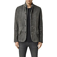 Buy AllSaints Emerson Leather Blazer, Cement Online at johnlewis.com