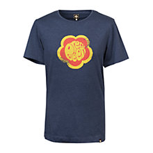 Buy Pretty Green Flower Badge T-Shirt, Navy Online at johnlewis.com