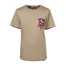 Buy Pretty Green Riley Pocket T-Shirt, Khaki Online at johnlewis.com