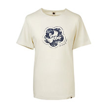 Buy Pretty Green Peace Badge T-Shirt, Stone Online at johnlewis.com